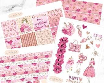 Erin Condren Horizontal Mothers Day Weekly Kit Planner Stickers