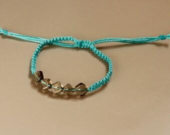 Skinny woven braceket, simple macrame jewelry, single wrap bracelet, Friendship bracelet