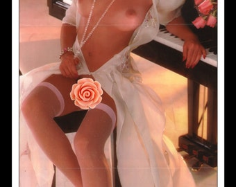 "Mature Playboy January 1986 : Playmate Centerfold Sherry Arnett Gatefold 3 Page Spread Photo Wall Art Decor 11"" x 23"""