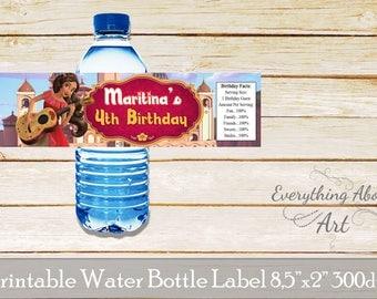 Elena of Avalor water bottle labels, Elena of Avalor birthday, Elena of Avalor party, Printable water bottle labels