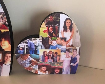 10cm Photo Heart, Photo Collage, Heart Collage, Photo Gift, Personalised gift,