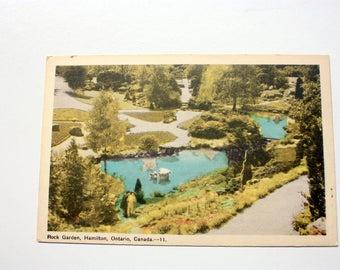 Rock Garden Hamilton Ontario Postcard / PECO Postcard white border / Vintage  Hamilton Postcard
