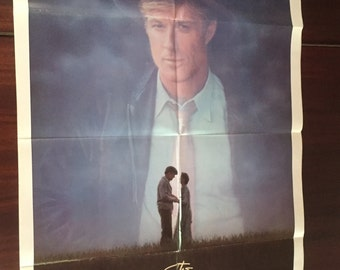 Original Movie Poster The Natural starring Robert Redford Vintage Film Poster nominated for four Academy Awards