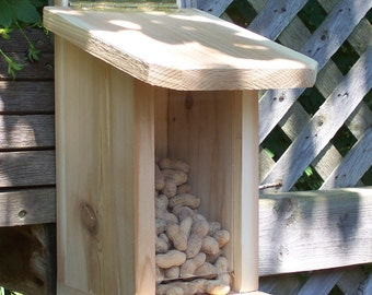 Whole peanut in the shell feeder,Functional,Bluejay feeder,Cardinal feeder.