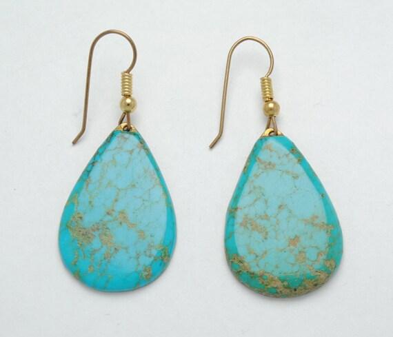 Boucles d'oreille en turquoise