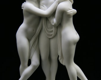 "8"" Three Graces Greek Goddess Statue Sculpture Figurine Vittoria Collection Made in Italy Italian Art Decoration"