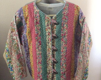Quilted Calico Jelly Roll Jacket Woman's XL