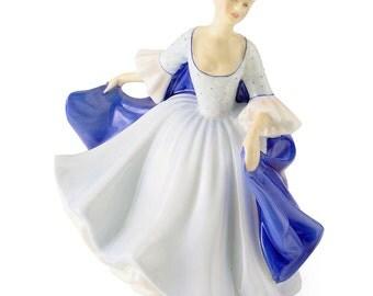 Royal Doulton Dulcie  Blue Dress