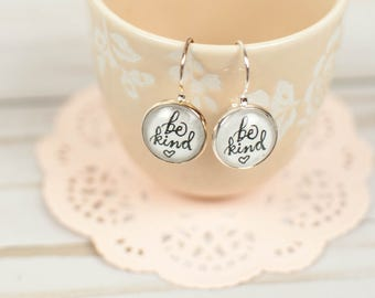 Be Kind Anyway Drop Earrings, Inspirational Earrings, Gifts Under 15, Kindness Counts Earrings, Inspirational Jewelry for Women, 402012