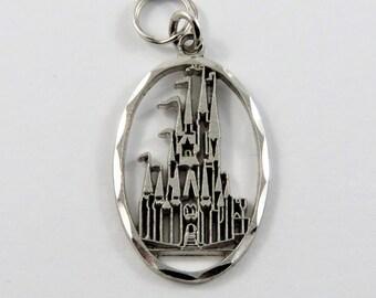Walt Disney World Castle Sterling Silver Charm.