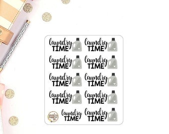 Laundry Time Planner Stickers