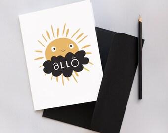 Hello - Greetings Card