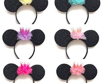 Princess Mickey Mouse Inspired Ears Birthday Disney Ears Headband