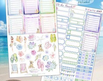 At the Beach Planner Stickers