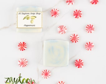 SALE Peppermint Soap -- Pure and Natural Vegan Soap with Peppermint Essential Oil