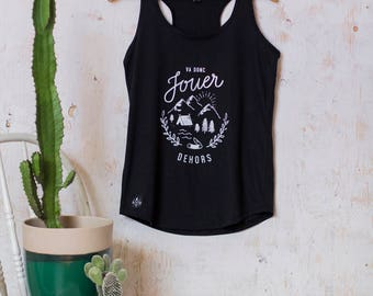 "tank top ""go outside and play"""