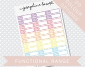 DUE REMINDER BOXES - Functional Stickers - Planner Stickers Matt