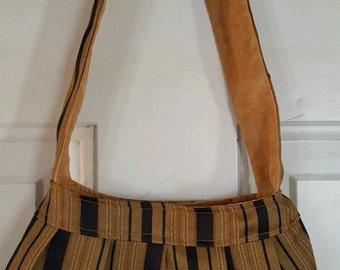 Small handbag shoulder purse Pocketbook Shoulder Bag NEW! Hand crafted Recycled and NEW materials SB07