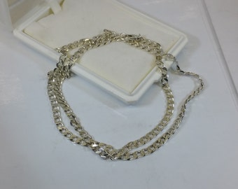 Curb chain necklace 925 Silver length 56 cm SK942