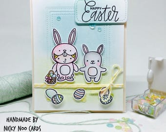 Handmade Easter Card - Easter Card - Cute Easter Card