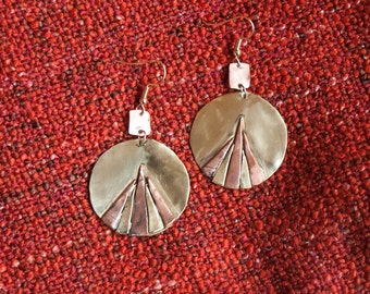 Shiva-handcrafted brass and copper ball Earrings