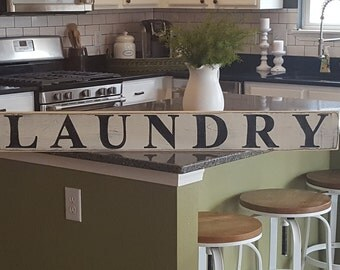 Laundry Sign, Laundry Room Decor, Laundromat,  Hand Painted Sign, Wood Sign, Rustic Sign, Distressed Sign, Farmhouse Decor