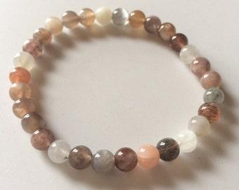 Moonstone Bracelet, Yoga Jewelry, Meditation Bracelet, Yoga Bracelet, Heart Chakra, Healing Bracelet, Chakra Healing, Crystal Healing