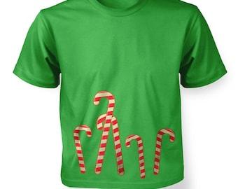 Dancing Candy Canes kids t-shirt