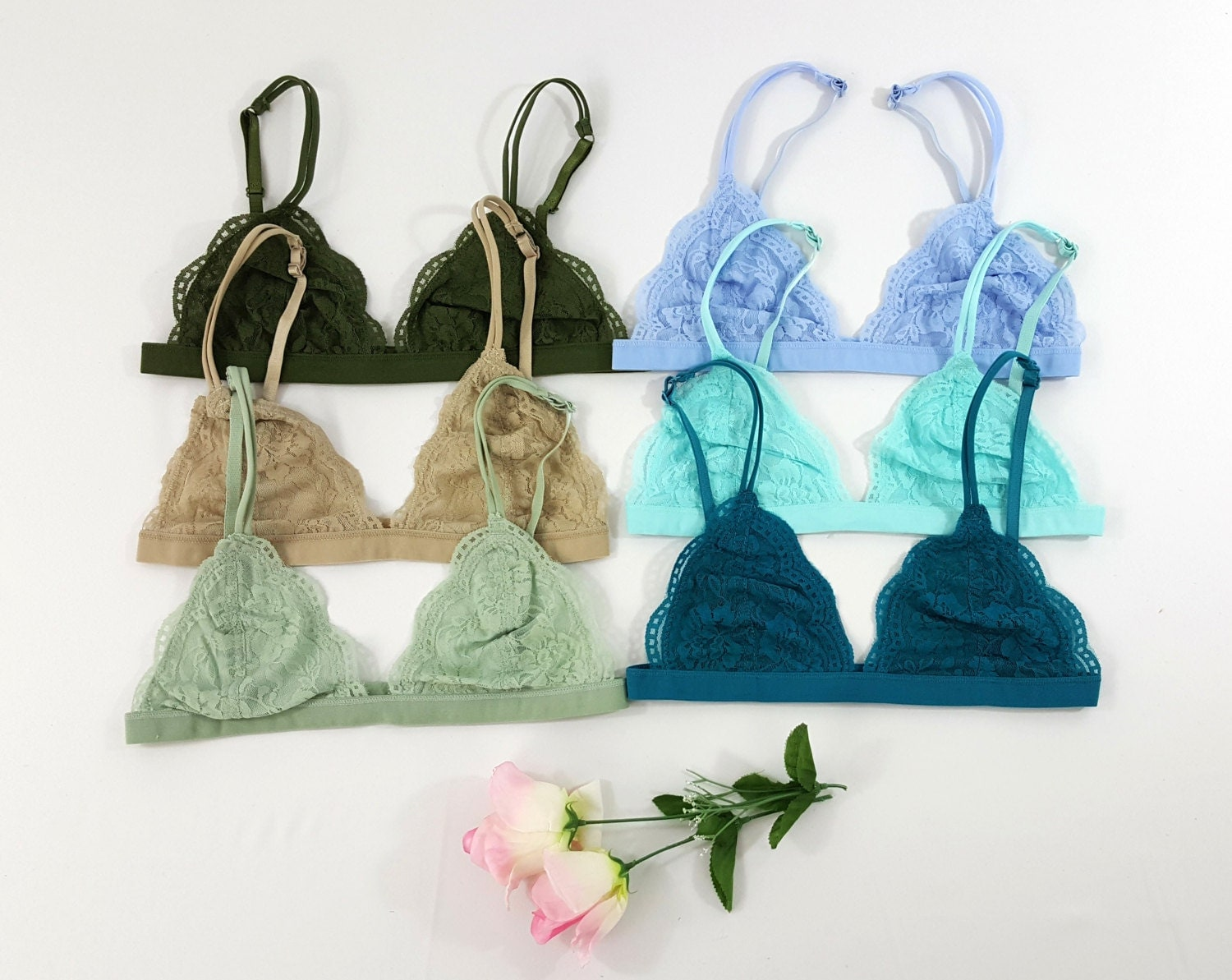 mesh bralette flower floral lace sheer bralettes lace bralette lacy triangle bra 3299