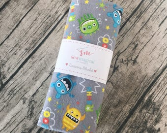 Hospital Blanket, Baby Boy, Monster, Take Home Blanket, Baby Shower Gift, Swaddle Wrap, Personalized Gift, New Mom Gift, Baby Blanket