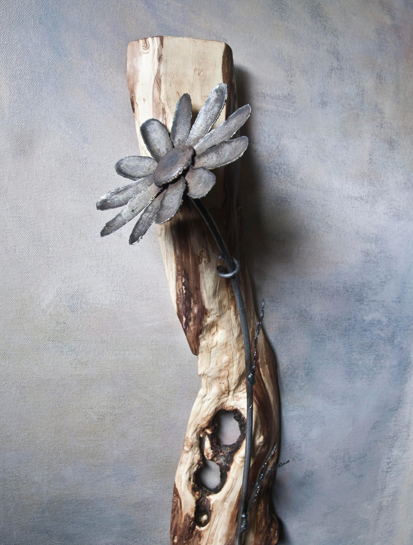 Wrought Iron Wall Decor Flowers : Wall art metal daisy luxury wrought iron flower on wood
