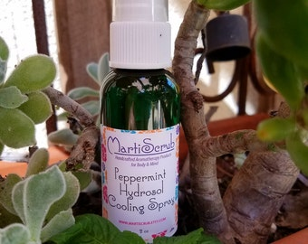 Peppermint Hydrosol Cooling Spray, Aromatherapy Toner