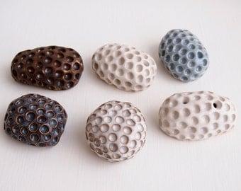 Handmade ceramic sculpture stress ball, pottery worry stone, paperweight, ceramic paperweight, pottery sculpture, palm stone, stress toy,