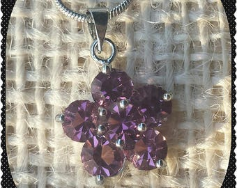 Amethyst Flower Chain Necklace