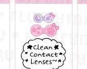 Contact Lens  || Planner Stickers, Cute Stickers for Erin Condren (ECLP), Filofax, Kikki K, Etc. || DPS151