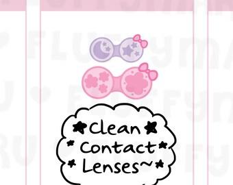 Contact Lens     Planner Stickers, Cute Stickers for Erin Condren (ECLP), Filofax, Kikki K, Etc.    DPS151