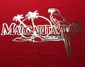 Metal Art- Margaritaville Steel Logo-Signs-Decor