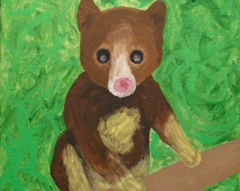 Print of Painting of Tree Kangaroo - Charity Fundraiser for WWF