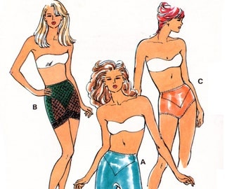 90s Kwik Sew 2152 Body Shapers in Three Styles: Long, Pantie and Control Slip, Uncut, Factory Folded, Sewing Pattern Multi Size XS-XL