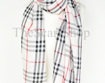 Light Pink Tartan Plaid Check Scarf,Wrap,Shawl,Cover Up,OverSized,School,College,University,Preppy,Gifts for Her,Hipster,Teen,Teenager