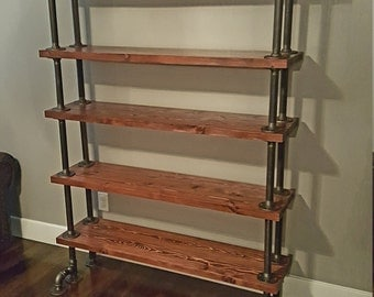 Industrial Pipe Shelves, High Rise Edition