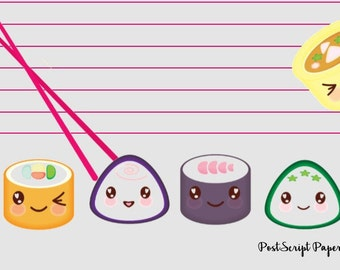 Happy Sushi - A5 Stationery - Writing Paper