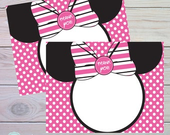 Minnie Mouse Thank You Card | Minnie Mouse Birthday | Minnie Mouse Bowtique | Oh Twodles | Instant Download | The Party Darling