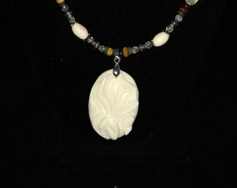 Fairy Bone and Opal Necklace