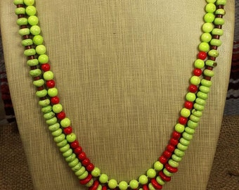Howlite Beaded Necklace