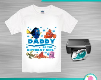 INSTANT DOWNLOAD Nemo iron on transfer print yourself Daddy of the birthday girl