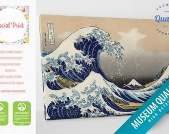 "Katsushika Hokusai ""The Great Wave off Kanagawa"" Canvas Print / FREE SHIPPING / reprint fine art Artwork Giclee wall art canvas art"