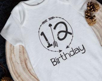 Half Birthday - 1/2 Birthday Bodysuit - 6 Month Birthday - 1/2 Birthday Gift- Baby Clothing - Bodysuit - Baby Vest