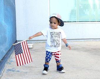 star spangled banner shirt, kids patriotic shirt, fourth of July outfit, 4th of July boy, 4th of July girl, red white and blue, tee, tshirt