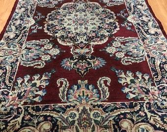 3' x 5' Antique Persian Kerman Oriental Rug - 1930s - Vegetable Dye - Hand Made - 100% Wool